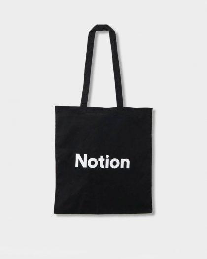 Black Notion Tote Bag