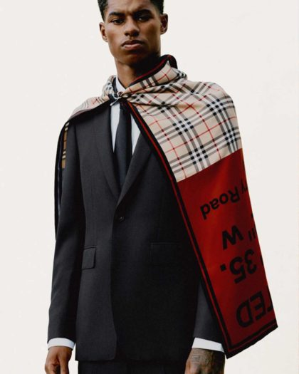 Marcus Rashford Teams Up With Burberry For Youth Projects