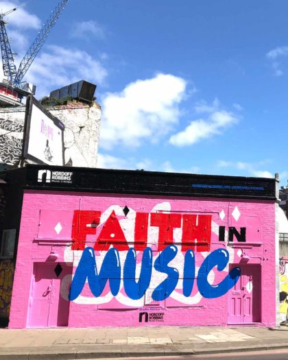 Studio Moross and Nordoff Robbins Adorn East London With Vibrant Mural