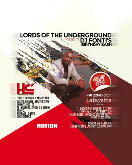 Notion Highlight: Lords of the Underground Presents DJ Fonti's Birthday Bash